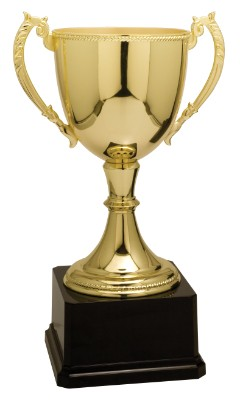 """11"""" Gold Completed Zinc Cup Trophy"""