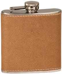 6 OZ LEATHER FLASK