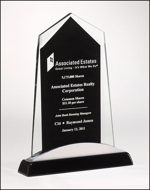 Apex Series Black Glass Award