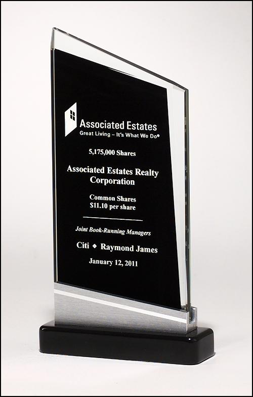 Zenith Series Black Glass Award