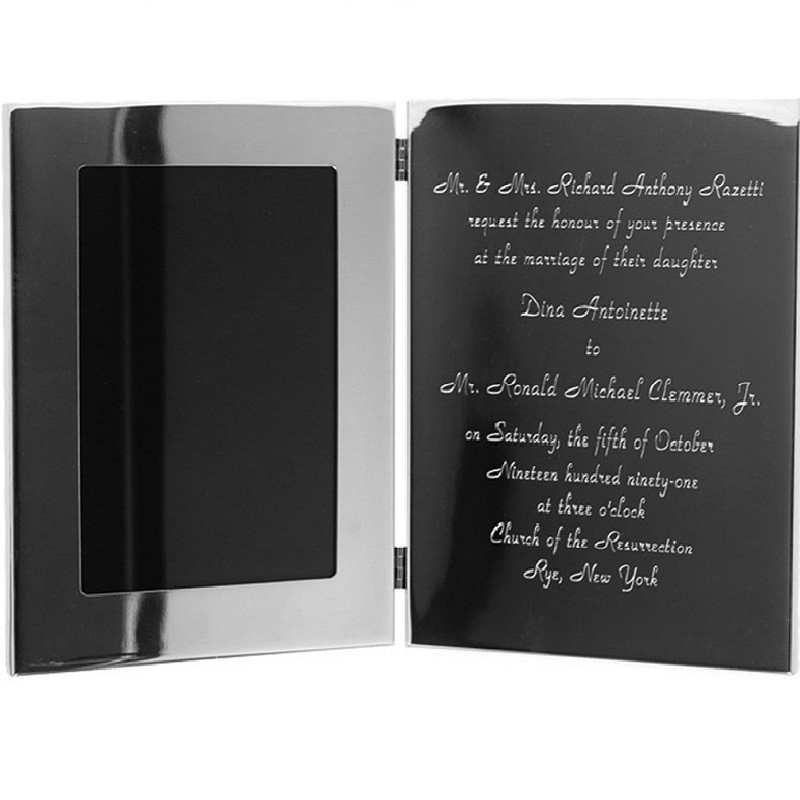 Wide Border Tablet Frame w/engraved invitation