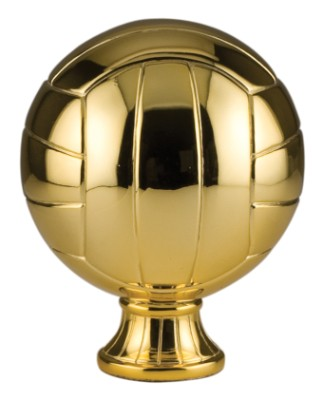 "5 1/2"" Gold Metallized Volleyball Resin"