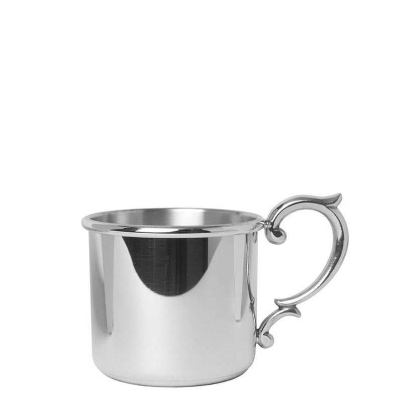 Straight Baby Cup with Scroll Handle, 5 oz.
