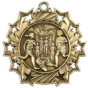 "2 1/4"" Cross Country Ten Star Medal"