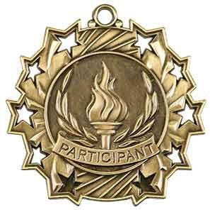 "2 1/4"" Participant Ten Star Medal"