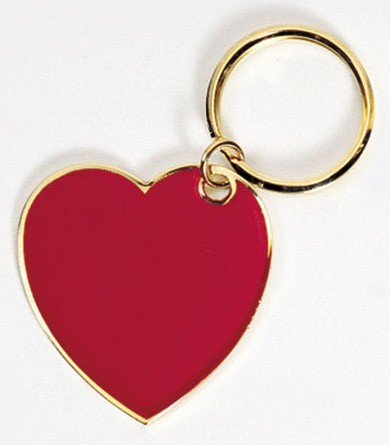 RED HEART KEY TAG