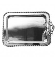 "Masthead Medium Rectangular Tray with Crab, 15"" x 10"""