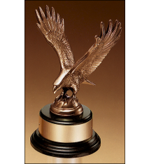 Eagle Trophy on Round Base