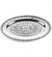 "Voyages Medium Oval Tray, 14 ½"" x 10"""