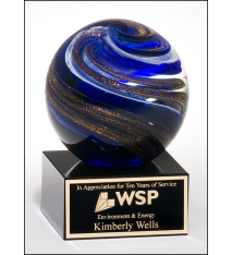 Art Glass Swirls Globe
