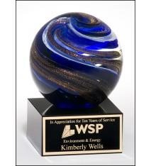 Art Glass Swirls Globe