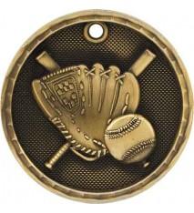 """2"""" 3D Baseball Medal"""