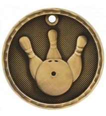 "2"" 3D Bowling Medal"