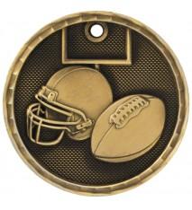 "2"" 3D Football Medal"
