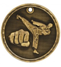"2"" 3D Martial Arts Medal"