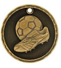 """2"""" 3D Soccer Medal"""