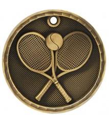 "2"" 3D Tennis Medal"