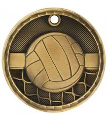 """2"""" 3D Volleyball Medal"""