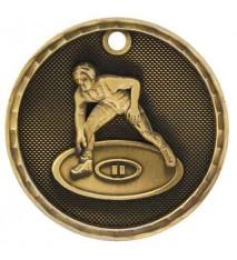 """2"""" 3D Wrestling Medal"""