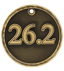 "2"" 3D Marathon Medal"