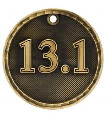 "2"" 3D Half Marathon Medal"