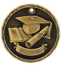 """2"""" 3D Graduate Medal"""