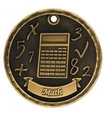 """2"""" 3D Math Medal"""