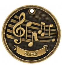 """2"""" 3D Music Medal"""