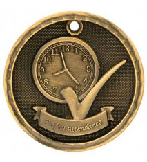"2"" 3D Perfect Attendance Medal"