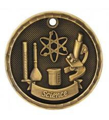 "2"" 3D Science Medal"