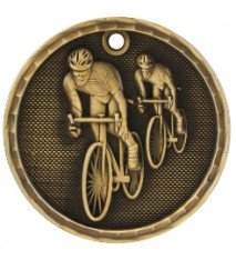 "2"" 3D Bicycling Medal"