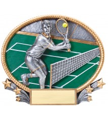 3-D LARGE OVAL TENNIS