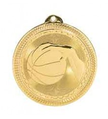 "2"" Basketball Laserable BriteLazer Medal"