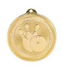 "2"" Bowling Laserable BriteLazer Medal"