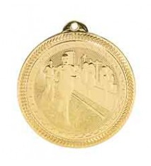 "2"" Cross Country Laserable BriteLazer Medal"
