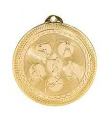 "2"" Field Events Laserable BriteLazer Medal"