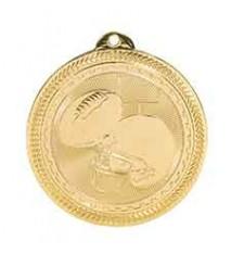 "2"" Football Laserable BriteLazer Medal"
