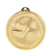 "2"" Golf Laserable BriteLazer Medal"