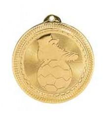 """2"""" Soccer Laserable BriteLazer Medal"""