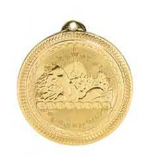 "2"" Swimming Laserable BriteLazer Medal"