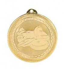 "2"" Weightlifting Laserable BriteLazer Medal"