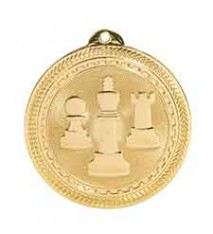 "2"" Chess Laserable BriteLazer Medal"