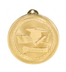 "2"" Graduate Laserable BriteLazer Medal"