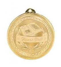 "2"" Honor Roll Laserable BriteLazer Medal"