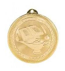 "2"" Lamp of Knowledge Laserable BriteLazer Medal"