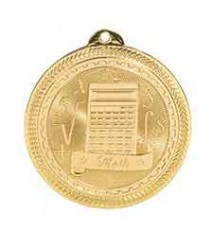 "2"" Math Laserable BriteLazer Medal"