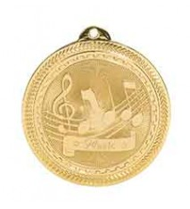 "2"" Music Laserable BriteLazer Medal"