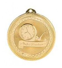 "2"" Perfect Attendance Laserable BriteLazer Medal"