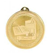 "2"" Reading Laserable BriteLazer Medal"