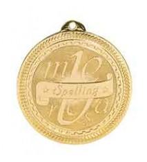 "2"" Spelling Laserable BriteLazer Medal"